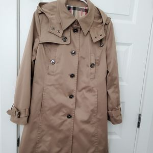 Vintage Burberry London Hooded Trench Coat S.